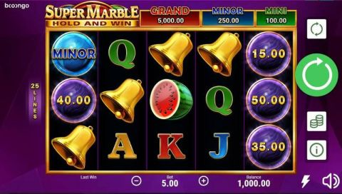 Super Marble Real Slot made by Booongo