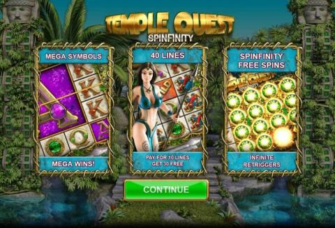 Temple Quest Spinfinity Real Slot made by Big Time Gaming