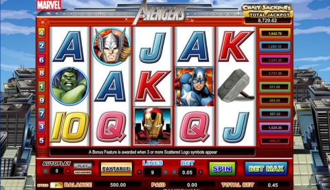 The Avengers Real Slot made by CryptoLogic