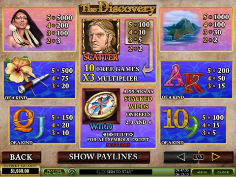 The Discovery Real Slot made by PlayTech