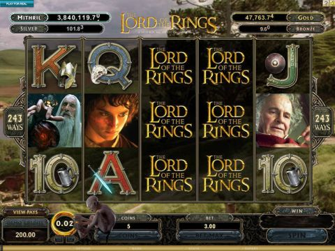 The Lord of the Rings Real Slot made by Microgaming