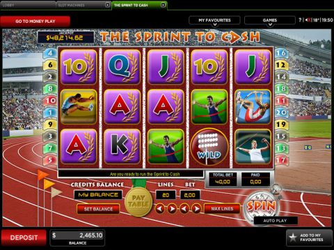 The Sprint To Cash Real Slot made by 888