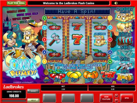 Thor Blimey Real Slot made by Microgaming