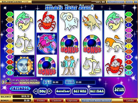What's Your Sign Real Slot made by WGS Technology