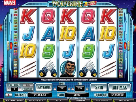 Wolverine - Action Stacks! Real Slot made by CryptoLogic