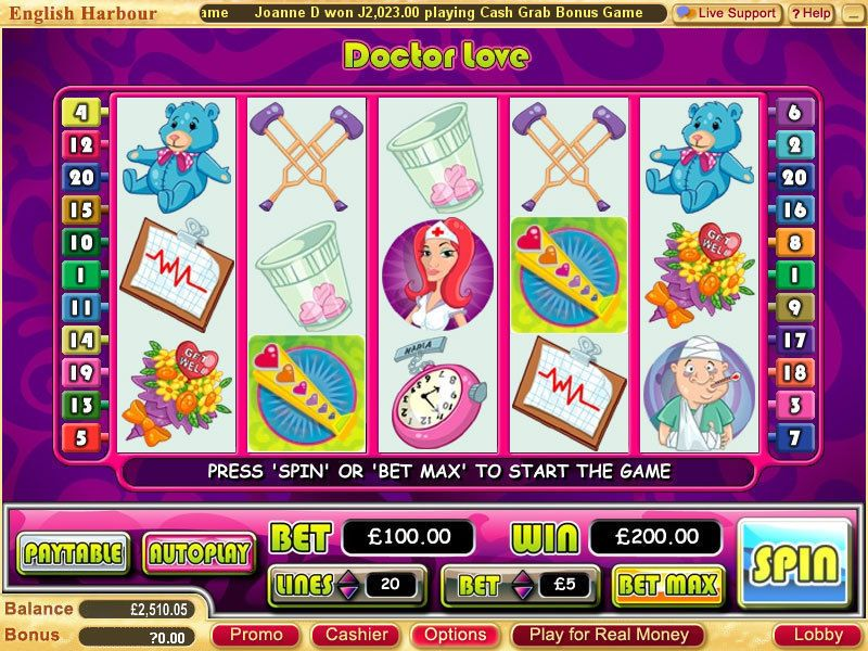 Doctor Love Real Slot Review Wgs Technology Slotsboard Com