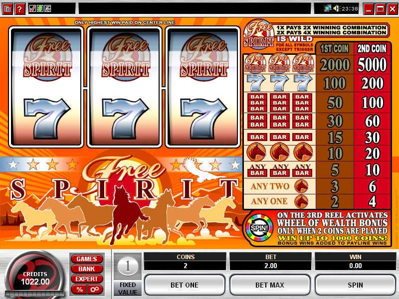 Free Spirit Wheel of Wealth Real Money Slot made by Microgaming