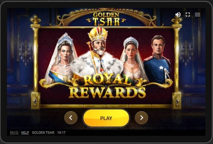 Golden Tsar Real Money Slot made by Red Tiger Gaming