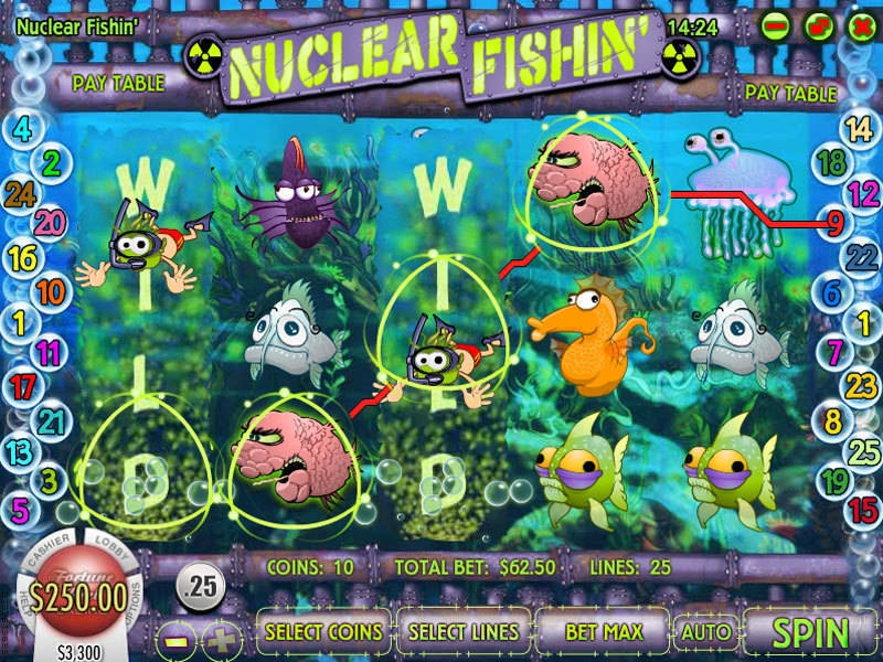 Nuclear Fishin Real Money Slot made by Rival
